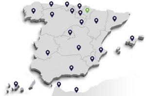 CRNES mapa de centros